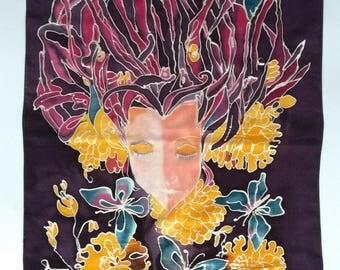 """Silk handpainted """"Autumn"""""""