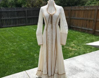 1970's Gunne Sax Hippie Wedding Dress (11)