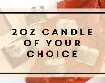 Pick a 2oz Candle Tin of Your Choice // Scented Soy Candles from IceyDesigns