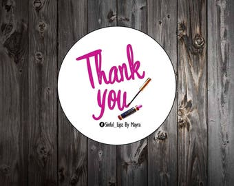 LipSense Labels- Thank You For Your Purchase Lipstick - Personalized