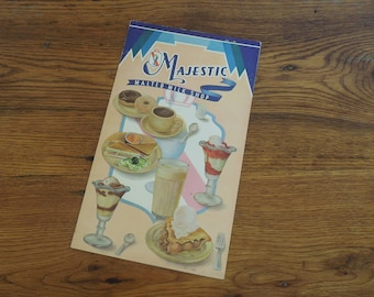 Vintage Menu 1940's Majestic Malted Milk Shop