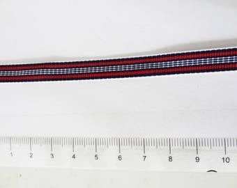 Red white blue lines patterned Ribbon
