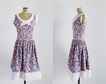 Art Deco Dress - Floral Dress - 1930s Dress  - Rosa Silvestre Dress