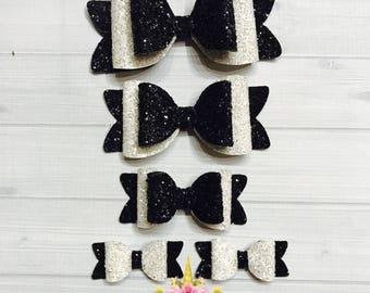 Black & White -  sandwish bow