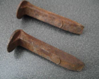 Antique-Rustic Small Railroad Tie Nails/Spikes , Two Nails
