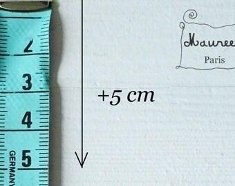 Service: + 5cm length dresses
