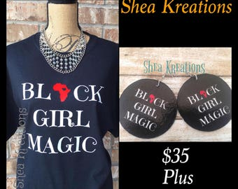 Black Girl Magic T-shirt Tee, Real Custom Apparel, Statement Shirts, Natural Beauty Melanin T-shirts, Trendy Top Selling Items