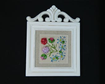 Silk Ribbon Embroidery Floral Group
