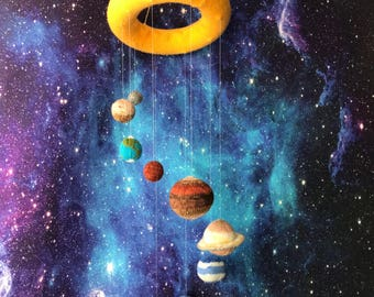 Knitted Solar System Mobile