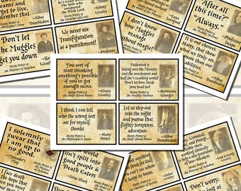 Harry Potter Quotes, POSTCARD SIZE, (3.5 x 5 Inch or 12.7 x 8.8 cm), 12 Total