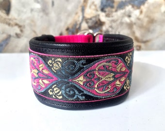 Italian Greyhound collar,  Whippet, dog collar, puppy collar, leather,martingale