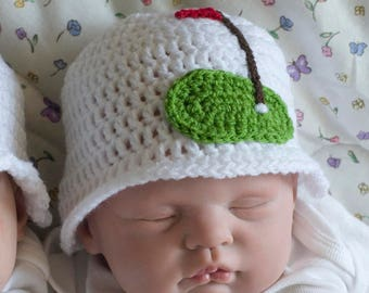 BABY GOLF HAT Baby Girl Golf Beanie, Baby Boy Golf Hat, Golf Baby Crochet Golf Hat, Knit Baby Golf Baby Bonnet, Knitted Newborn Golfing