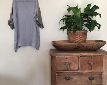 Womens Flax Linen Shirt Dress.Free size.