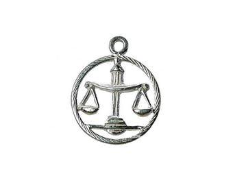Sterling Silver Zodiac Libra Charm For Bracelets