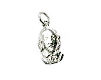 Sterling Silver William Shakespeare Bust Charm For Bracelets