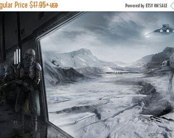 20% OFF SALE WOW From the eyes of a Snow Trooper Poster
