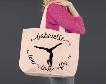 Gymnastics Tote | Dance Gift | Gift for Dancer | Tote Bag | Canvas Tote Bag | Canvas Tote | Shopping Tote | Shopping Bag | Korena Loves