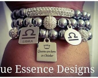 Zodiac Bracelet Set made w/ Hematite (3) Bracelets Only