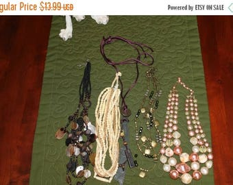 ON SALE Lot 6    Unusual Lovely Vintage Necklaces
