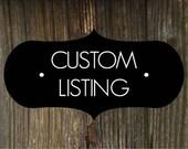 Custom for Kinseycarson
