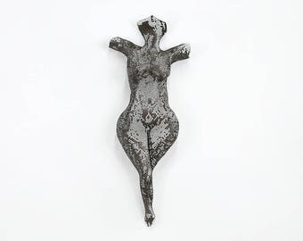 Sexy Nude Figure, Metal sculpture torso wire mesh sculpture home decor metal wall art