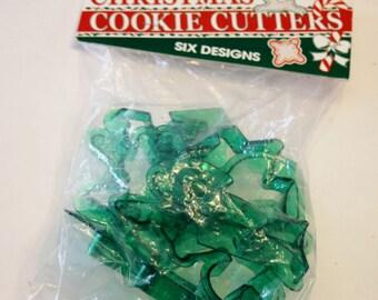Vintage  NIP Translucent Green Plastic Cookie Cutters