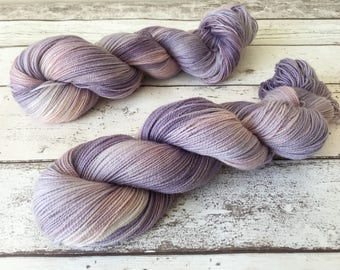 Sparkle Sock in Twilight: Naturally hand-dyed Sock yarn in Superwash Merino, Nylon and Silver Stellina 100g / 400m