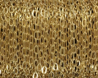 5FT (1.5mt) Gold Filled Chain - Flat Cable Chain 1.8mm wholesale - Gold Fill Chain - Flat Cable Chain - Yellow Gold Chain cable - bulk chain