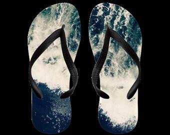 Flip Flops, vagues s'écraser, pour hommes, femmes ou enfants, Summertime, sandales, chaussures, Nature, photographie, RDelean