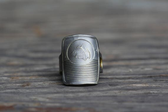 Ring made from a 1950's MERCURY Car Key - Size 6 - Jewelry - Vintage - Padlock Key - Powder Coated Brass - Roman God - Mythology