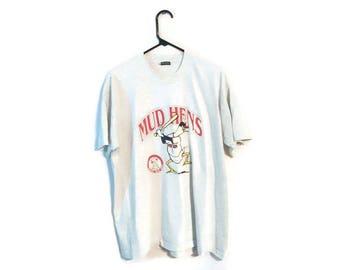 Vintage MUD HENS Shirt size XL Baseball Minor league Toledo Ohio