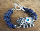 Lapis Lazuli Elephant Bracelet