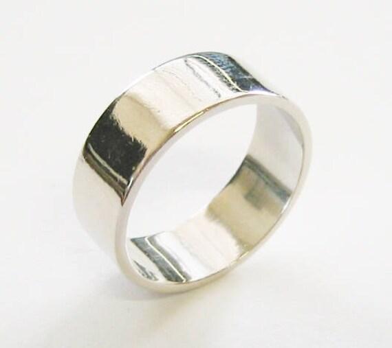 "Vintage... 14K Solid White Gold, ""Super Wide"" Unisex Band or Wedding Ring."