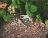 Reserved// Labradorite Ring Sterling Silver