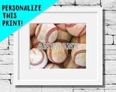 De sport personnalisé Baseball Baseball personnalisé, impression photo, impression, Photo de Baseball, Baseball photographie, salle de Baseball, Baseball Decor