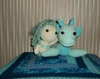 Mermaid and Sea Serpent Plush Crochet