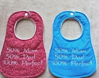 Embroidered Handmade Reversible Bibs