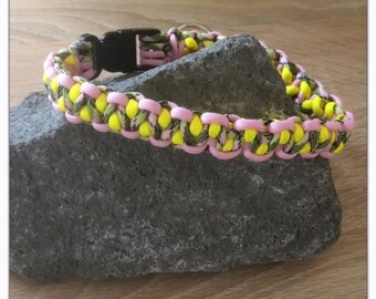 Hand-made Paracord dog collars, 42.5 cm, individual design possible.