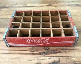 Vintage Coca Cola Crate, Wooden Crate, Storage Box, Wooden Box, Coke Crate