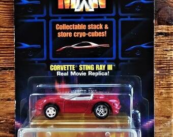 Hot Wheels 1993 Demolition Man Movie Replica Red Corvette Stingray III #11085 - NOC