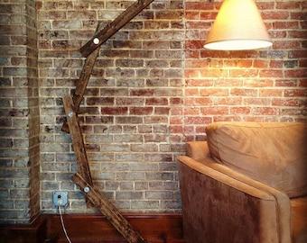 Industrial Floor Lamp - Arc Floor Lamp - Industrial Lighting - Industrial Lamps - Modern Wood Lamps - Home Decor -Industrial Style Lamp