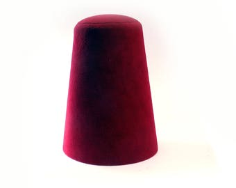 Traditional Whirling Dervish Hat ''Sikke'' 58~59 cm cherry red