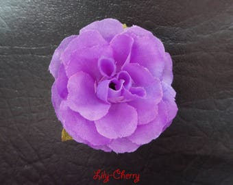 Small artificial pink flower for hair decoration 1 x purple