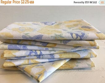 ON SALE Vintage Laura Ashley Sheet Fat Quarter, 100% Cotton Quilting and Sewing Fabric