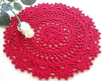 Crochet Placemat Crochet Doily Round Placemat Home Decor Tablecloth Crochet Tablecloth Women Gift