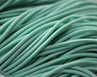 5 meters of cord color Mint green elastic