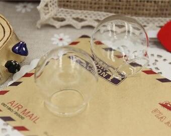 2 transparent fill glass dome