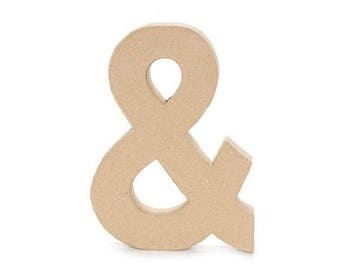 12 INCH Paper Mache Letter & AND Ampersand - Cardboard Letters, Craft Supplies