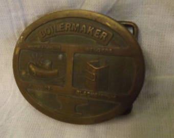 Boilermaker Belt Buckle Boilermaker Brass Buckle