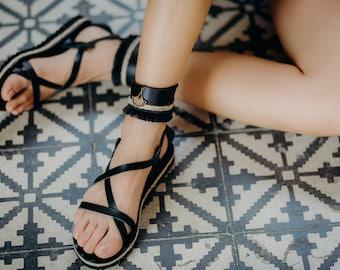 leather sandals,women sandals,summer flat sandals,spartan sandals,sandales grecques,classic greek sandal,natural leather flat